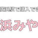 新横浜駅|人気のお土産【お菓子】地元の私がおすすめする品