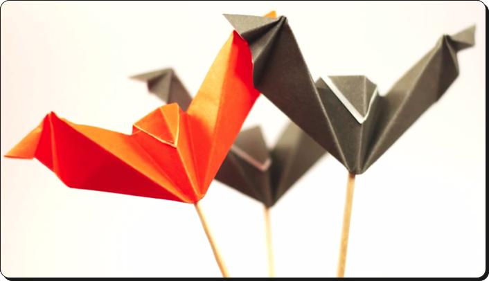 すべての折り紙 ハロウィン 飾り 折り紙 : ハロウィン 折り紙 コウモリ4